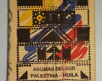 Red, Yellow, Blue Graphic (Colombia) Coffee Bag Wall Hanging