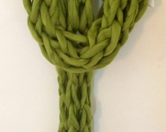 Arm Knitted Scarf Ready to ship Today - on trend