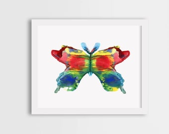Butterfly art, colorful butterfly, watercolor butterfly print, butterfly painting, butterfly illustration
