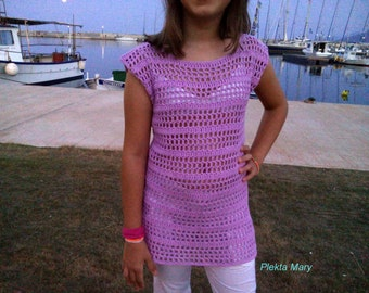Crochet sweaters, girls sweater, girl sweater, baby romper, children summer clothes, purple lilac sweater, handmade sweaters, summer sweater