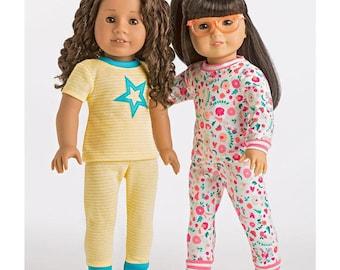 Simplicity 8535 / American Girl Clothes for 18 inch Dolls / Pajamas - Pjs - Sleepwear