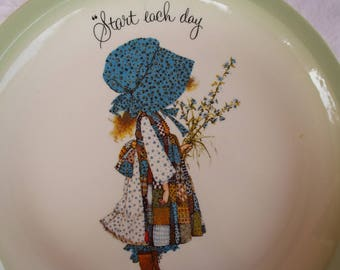 Holly Hobbie Plate 1972 Collectible Start Each Day in a Happy Way Collector's Plate American Greetings