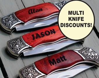 Personalized Pocket Knife -  Groomsman Gift - Engraved Pocket Knife - Groomsmen Gift - Groomsmen Knife, Personalized Knife, Folding Knife
