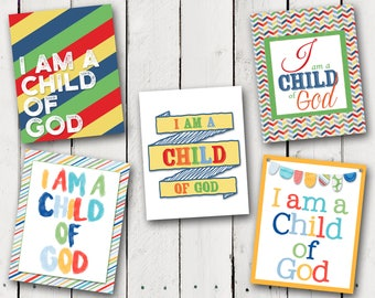 I am a child of God Prints - 2018 Primary theme - Instant Download