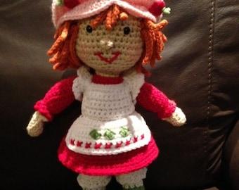 Strawberry Shortcake Inspired Doll