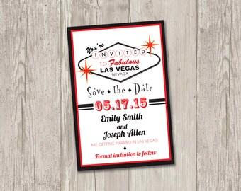 Las Vegas Save the Date Printable | Las Vegas, casino theme wedding, Save the date