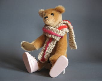 Mohair Teddy Bear Handmade Vintage Style 12 inches tall