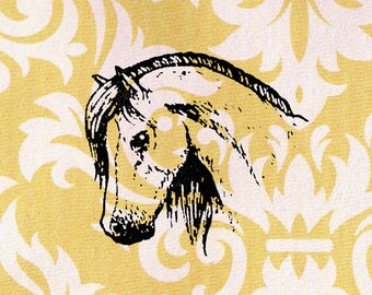Horse Head Stamp: Wood Mounted Rubber Stamp