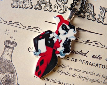 Harley Quinn Gun Batman NECKLACE / Keychain / HAIR CLIPS