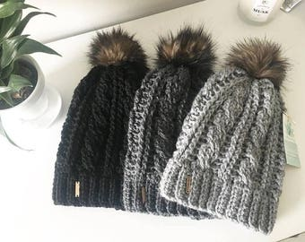 The Cabled Toque // Slouchy