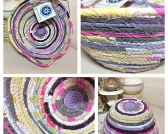 Small Egg Basket #1235- Handmade Fabric Basket  -  || Home || Decor|| Farmhouse Style || Gift || Storage ||