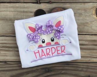 Bunny Embroidered Shirt - Easter Bunny Personalized Shirt