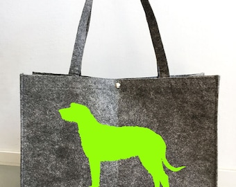 Felt bag Irish Wolfhound silhouette