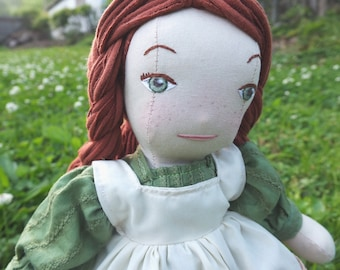 Anne of Green Gables doll, red haired doll, heirloom cotton doll, twelve inch doll