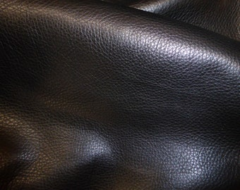 """Leather 10""""x24"""" or 12""""x20"""" or 15""""x15"""" CHAPAREL Black Top Grain Thick Soft Cowhide 4-4.5 oz/1.6-1.8 mm PeggySueAlso™ E3200-03"""