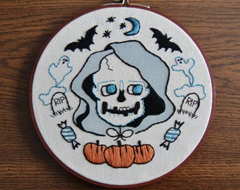 Every Day is Halloween Embroidered Wall Hanging Hoop