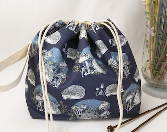 Small Super Draw Project Bag - Hedgerow MADE TO ORDER