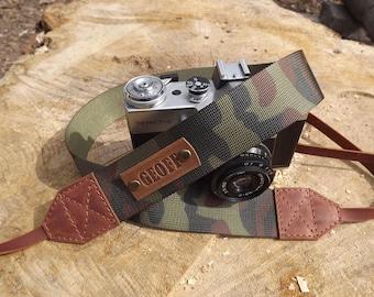 Leather Camera Strap / dslr camera strap