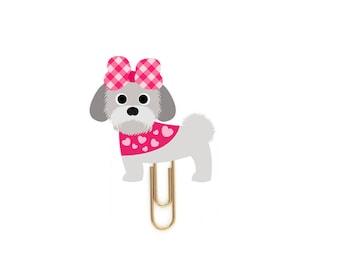 Puppy Planner Paper Clips. Valentine puppies. 18 Designs - Dog Novelty Magnets & Planner Accessories. Beagle, Shih Tzu, Schnauzer Puppies