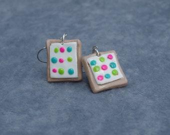 Confetti Cupcake Pop Tart Earrings