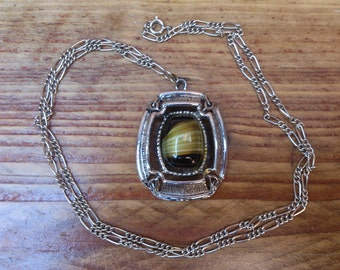 Large vintage Celtic pendant and chain