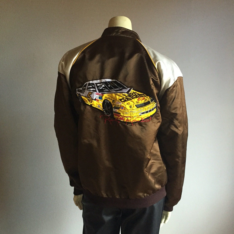 embroidered race car bomber jacket - Levi Garrett 80s vintage satin ...