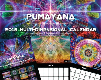 The 2018 Pumayana Calendar - Visionary, Sacred Geometry, Psychedelic, Shamanic, Spiritual, Healing, Dmt, Ayahuasca, Entheogenic Art