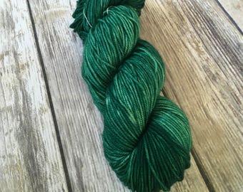 Emerald Green 100% Superwash Merino Sock Yarn - Hand Dyed