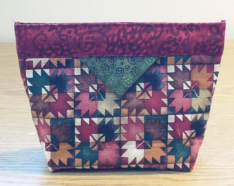 Quilted Snap Bag (SB080) Maple Leaves