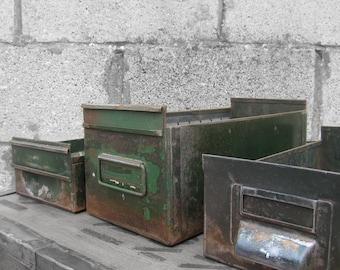 Industrial Metal Drawers Small Storage Display Boxes