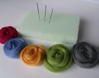 Custom carded set 1 Merino Wool Felting Kit
