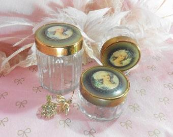 Dresser Set Jars Madame De Pompadour