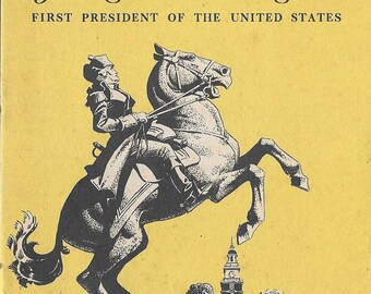 Vintage 1930's History Book - George Washington