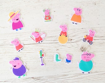 Peppa Pig Birthday Role game for toddlers activity Peppa Pig party Peppa Pig family Fridge magnets Felt toy for toddlers Peppa Pig toy