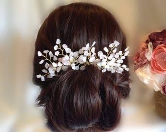 Quartz Hair Pins - Bridal Hair Pins - Wedding Hair Pins - Hair Clip