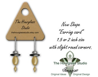 Earring Display Cards, Jewelry Cards 033, Product Tags, Jewelry Display Cards, Triangle Cut, Custom Earring Cards, Custom Cards
