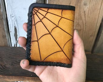 Web Wallet, Southwestern Wallet, Slim Cardholder, Leather Accessories, Leather Wallet, Personalized Wallet, Leather Wallet