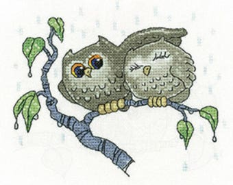 Heritage Crafts -  Your Shelter - Owls Cross Stitch Kit by Peter Underhill