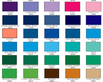 """10 sheets - 12"""" x 12"""" each - ORACLE 651 Craft Hobby Vinyl - 56 COLORS available. Includes Silver and Gold! Choose Any Colors"""