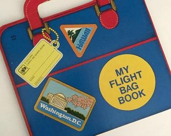 1978 mein Flug Tasche Buch von Kathleen N. Daly - Illustated von Yoshi Miyake - Goldene Presse -A Golden tragen mich Form Buch