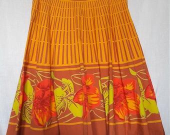 Circle Skirt - Full Skirt - Hibiscus - Odille for Anthropologie