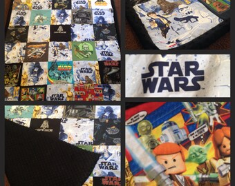 Star Wars Themed Child Memory Blanket with Border
