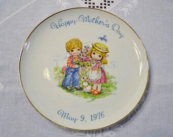 Vintage Mothers Day Plate 1976 Commemorative Edition Japan PanchosPorch