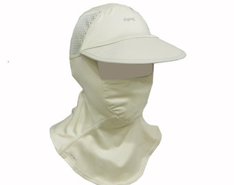 zigzag Sun protection hat and mask with UPF50+
