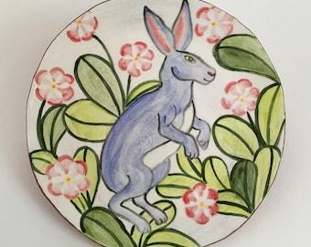 Blue Rabbit Plate