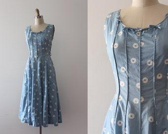 vintage 1950s dress // 50s cotton day dress