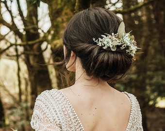 Foliage half crown, foliage crown, Natural flower crown, fern crown, green crown, woodland wedding, bridal flower comb, greenery crown