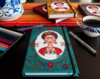 Frida with flowers Notebook