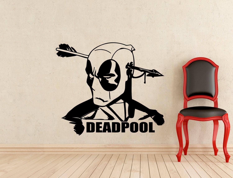 Deadpool wall decal dc marvel comics superhero vinyl sticker zoom amipublicfo Image collections