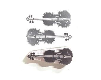 Violin Rubber Stamp   002013
